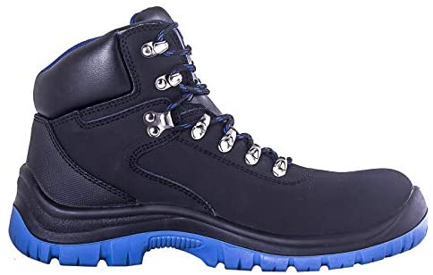 Safety Shoes High Ankle with Blue Lining