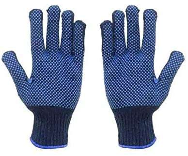 Blue Dotted Gloves One Side & Double Side